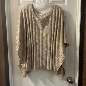 New York & Co Tan Poncho Style Sleeve Top XL